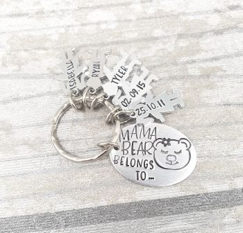 ... Bear Belongs To.. Keyring - You choose your family member!
