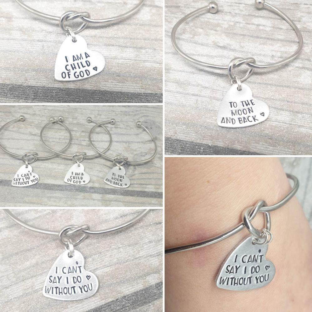 Knot Bracelet - Heart Charm