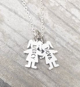 Child Initial Necklace - Boy/Girl Charms
