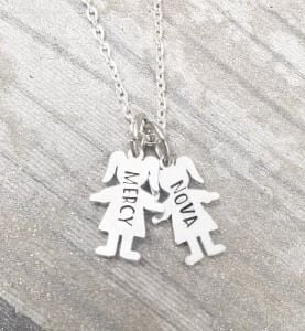 Childs Name Necklace - Boy/Girl Charms