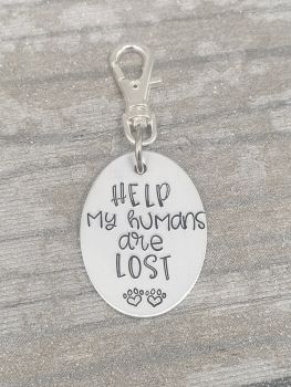 Dog Tag Clip - Help my humans are lost