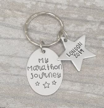 My Marathon Journey Keyring