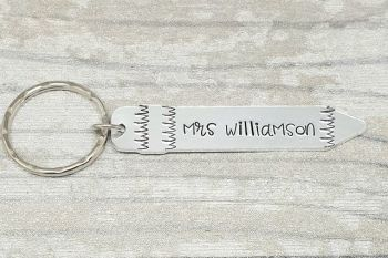 Teacher Keyrings - Pencil