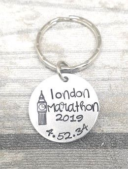 London Marathon 2019 - Time Keyring
