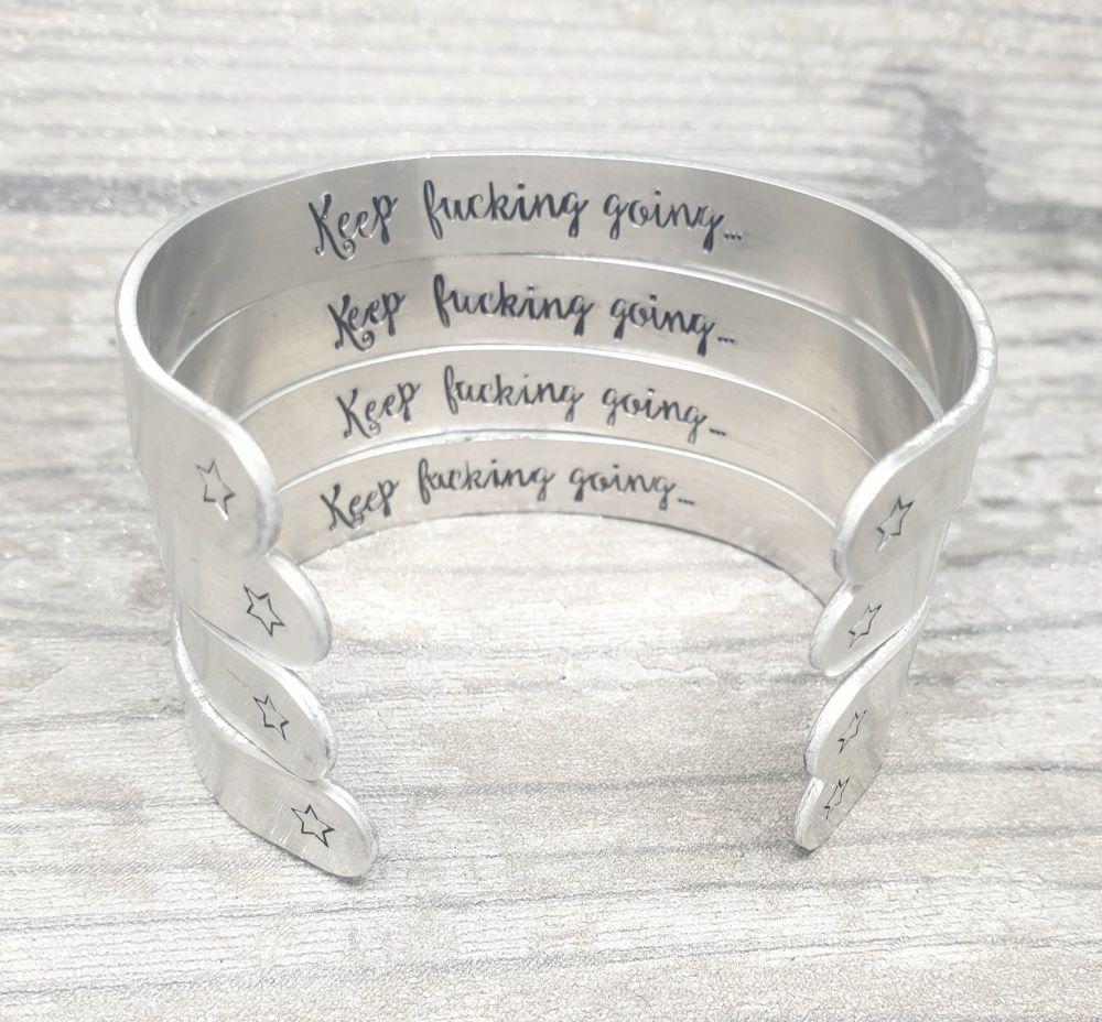 Sweary Bracelet - Keep fucking going..