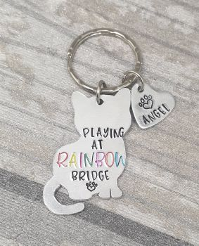 Rainbow Bridge - Cat Keyring