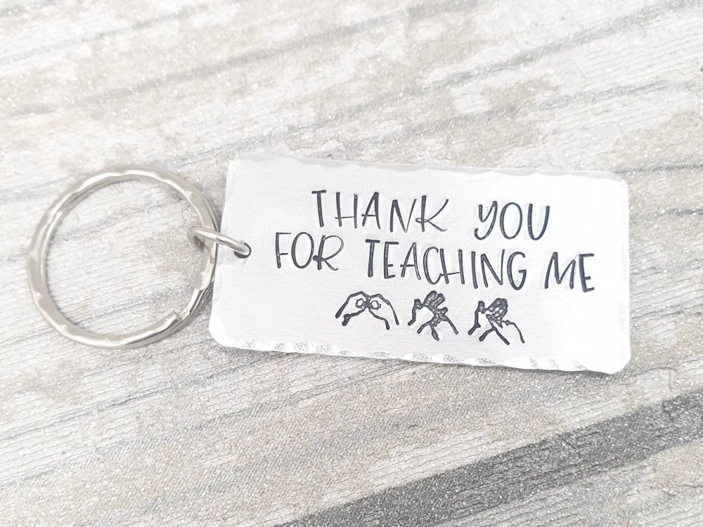 Thank you for teaching me BSL - Keyring