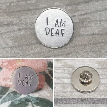 I Am Deaf Badge