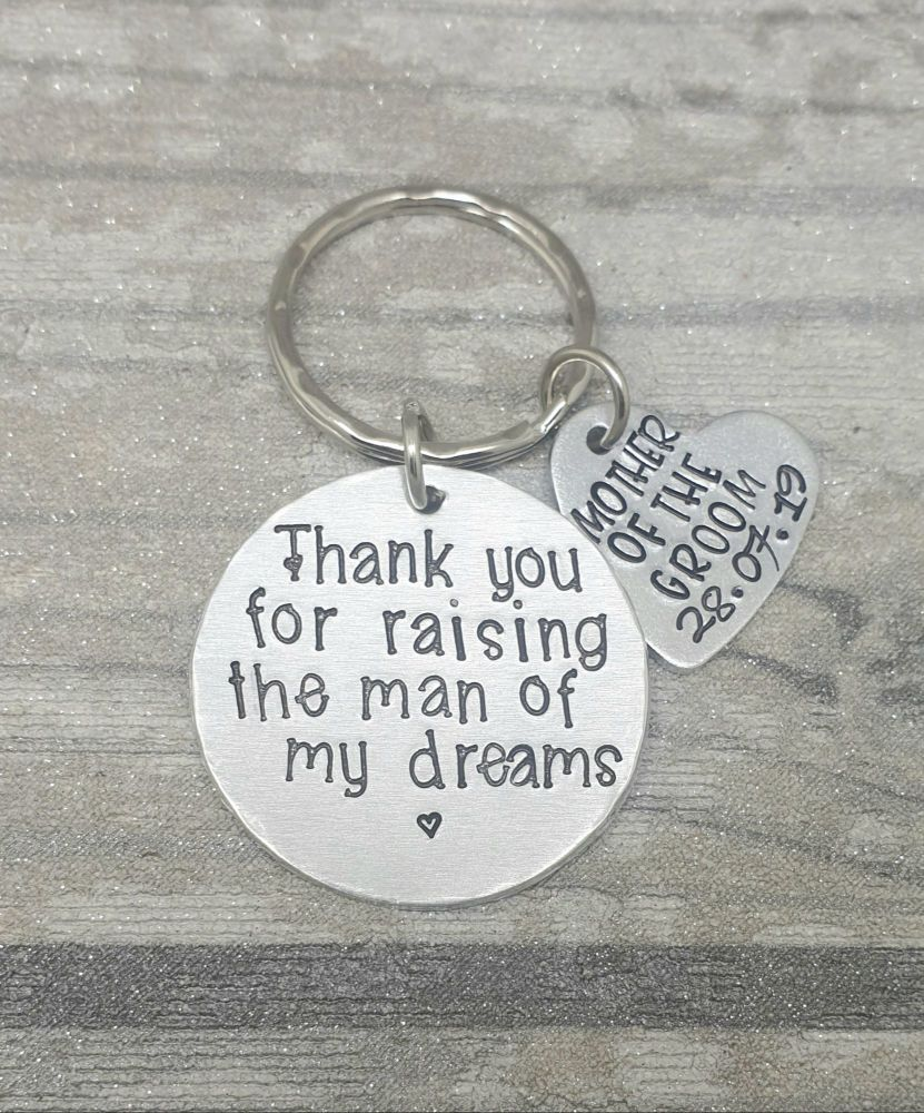 Mother Of The Groom  - Thank you for raising the man of my dreams keyring