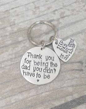Step Dad Of The Bride  - Thank you for being the dad you didn't have to be. keyring