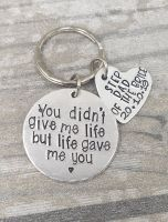 Step Dad Of The Bride  - You didn't give me life, but life gave me you. keyring