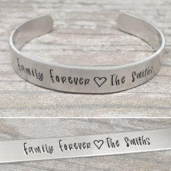 Family Forever Cuff Bracelet