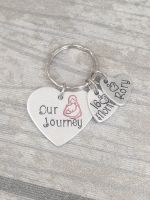 Breastfeeding Keyring - Our Journey - Heart Keyring with Name & Duration