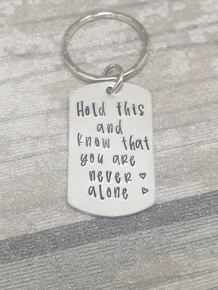 Worry Keyring - Hold this and know that you are never alone - Anxiety Helpe