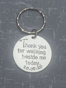Thank you for walking beside me today Keyring