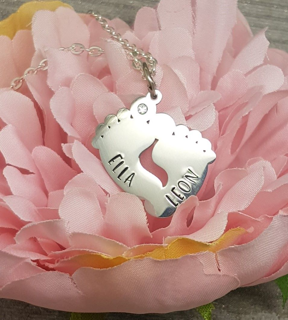 Footprints Personalised Necklace