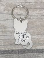 Crazy Cat Lady Keyring