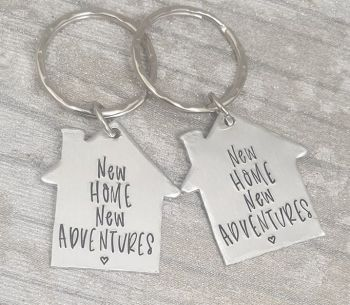New Home New Adventures Keyring