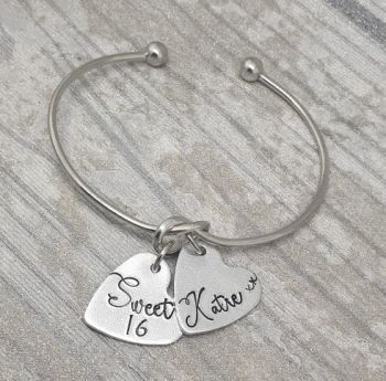 Sweet 16 - Personalised Knot Bangle