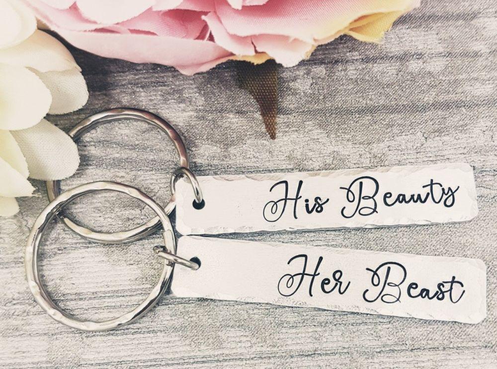 His Beauty - Her Beast - Keyrings