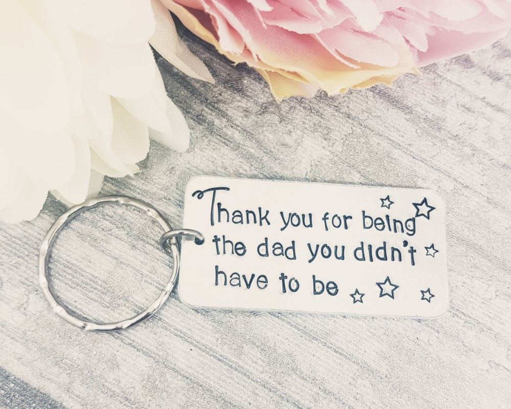 Step Dad Quote Keyring