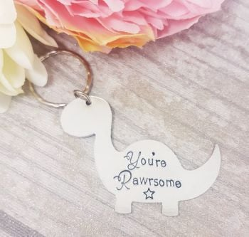 You're Rawrsome - Dinosaur Shaped Keyring *Fiver Friday 11/10*