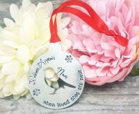 Robins Appear when loved ones are near - Christmas Decoration - Personalised