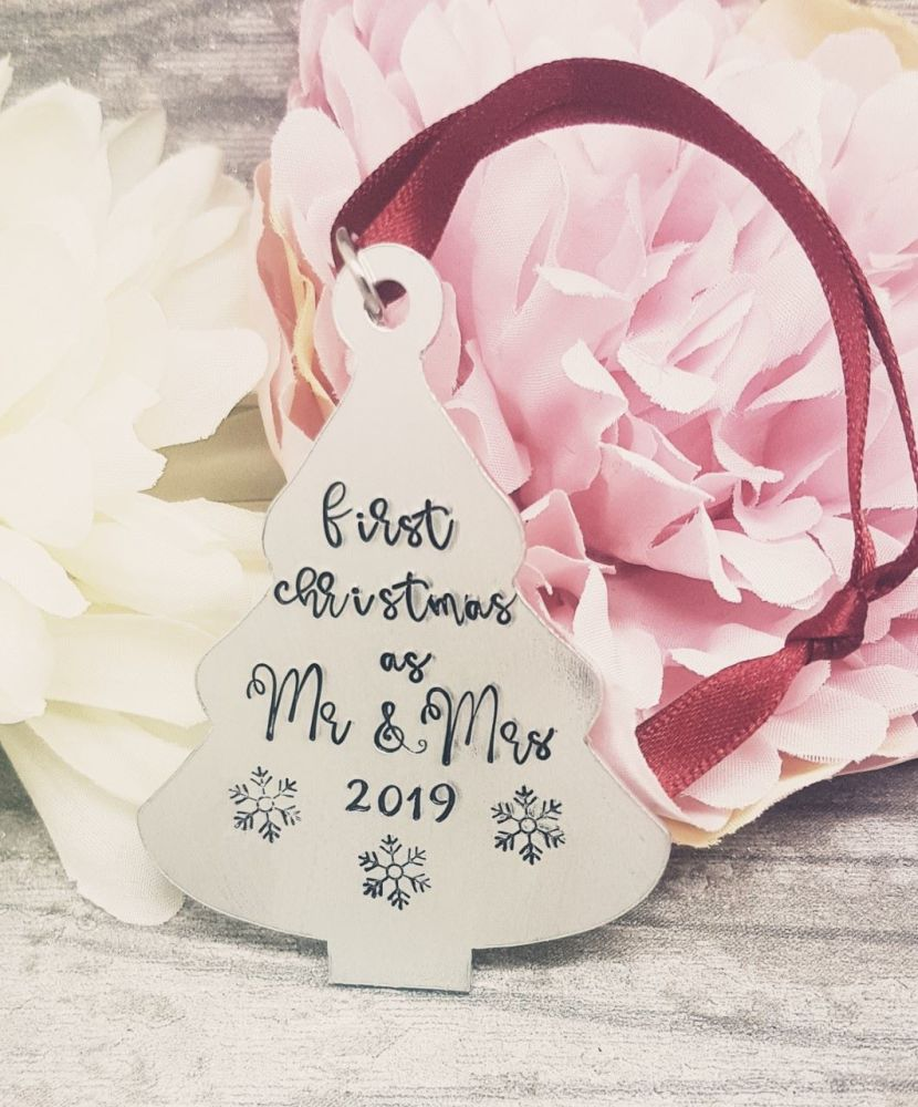 First Christmas as Mr & Mrs 2019 - Christmas Decoration