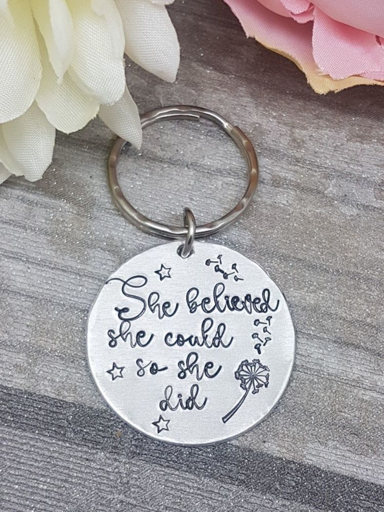 She Believed She Could.. So She Did... Keyring