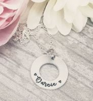 Washer Name Necklace