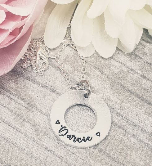 Washer Name Necklace  - **SUNDAY SPECIAL 03/11**