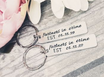 Partners in Crime - Set of 2 Keyrings