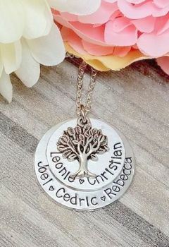 Family Tree Style Necklace - Double layered