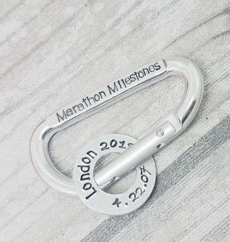 Marathon Milestones - Carabiner - Running Achievements
