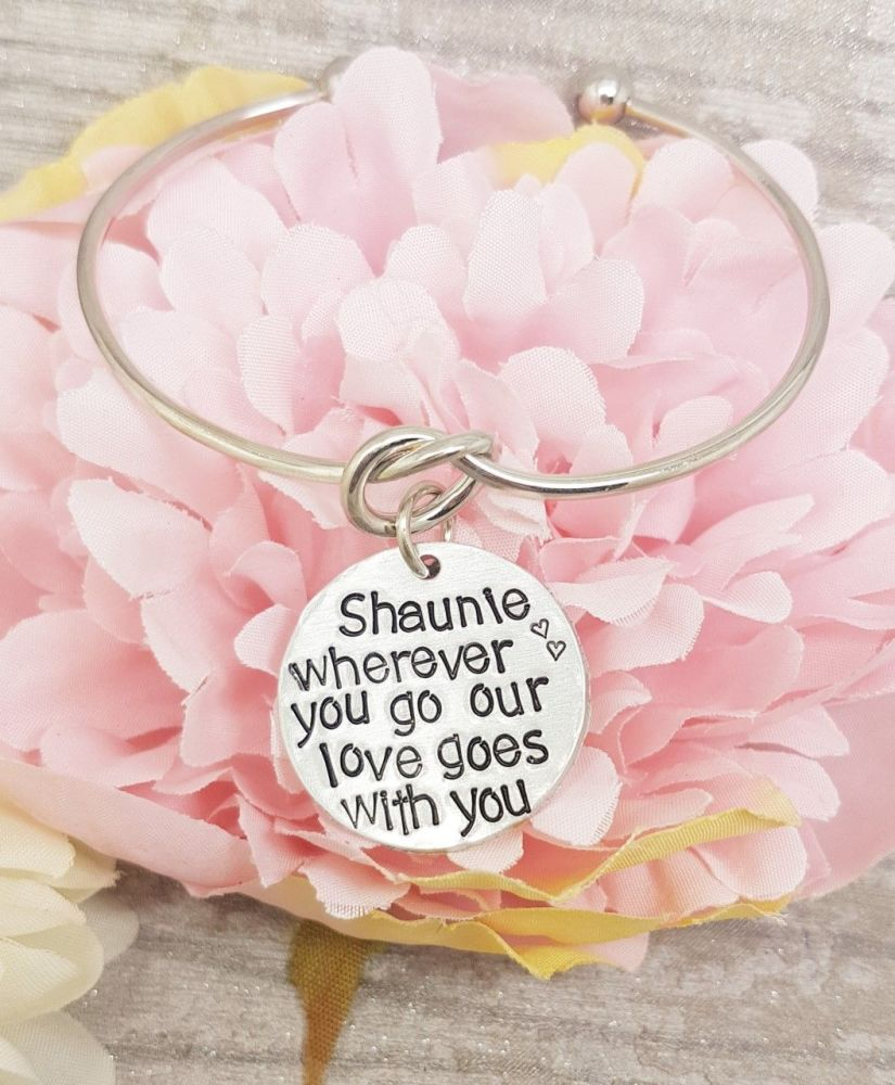 Wherever you go our love goes with you.. Knot Bangle