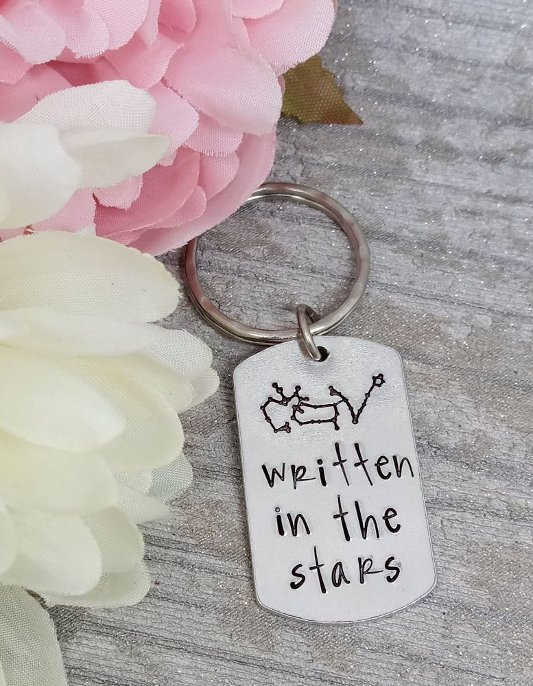 Written in the stars Keyring