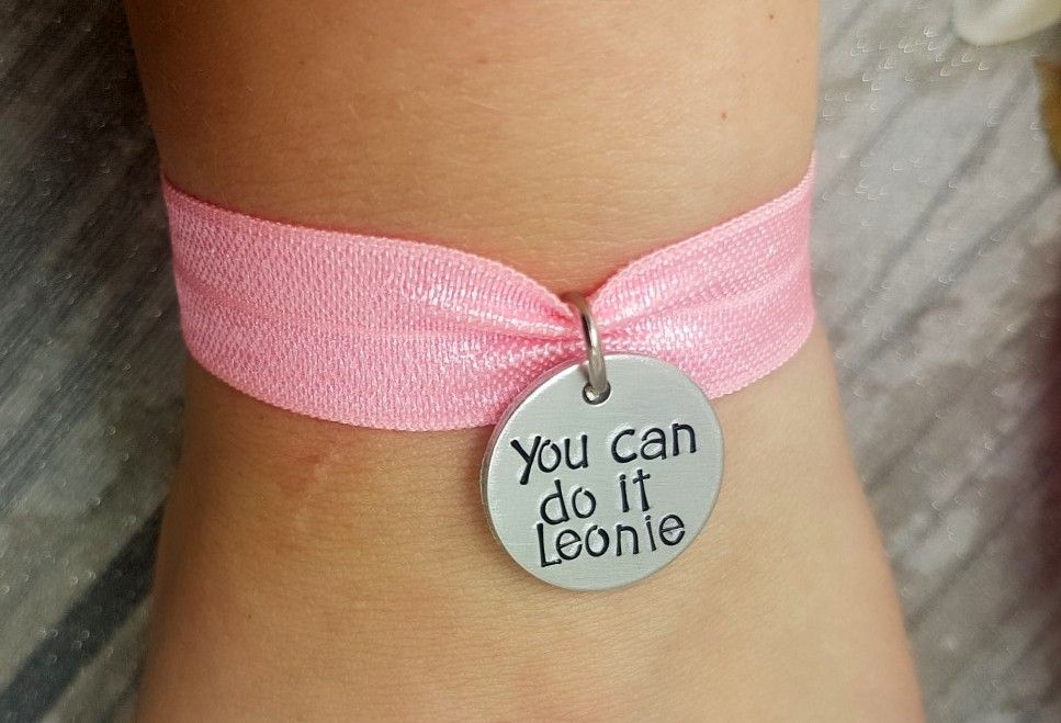 You can do it - Personalised Name Stretch Bracelet