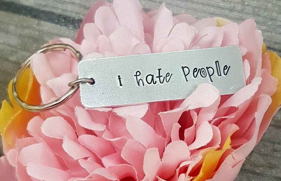 I Hate People Keyring
