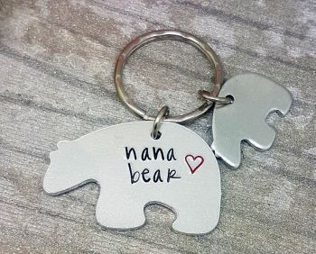 Bear Keyring - With small bear tags