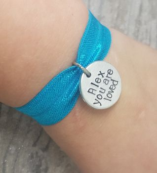 You Are Loved - Personalised Name Stretch Bracelet