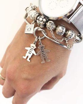 Knot Bracelet - Girl/Boy Charms
