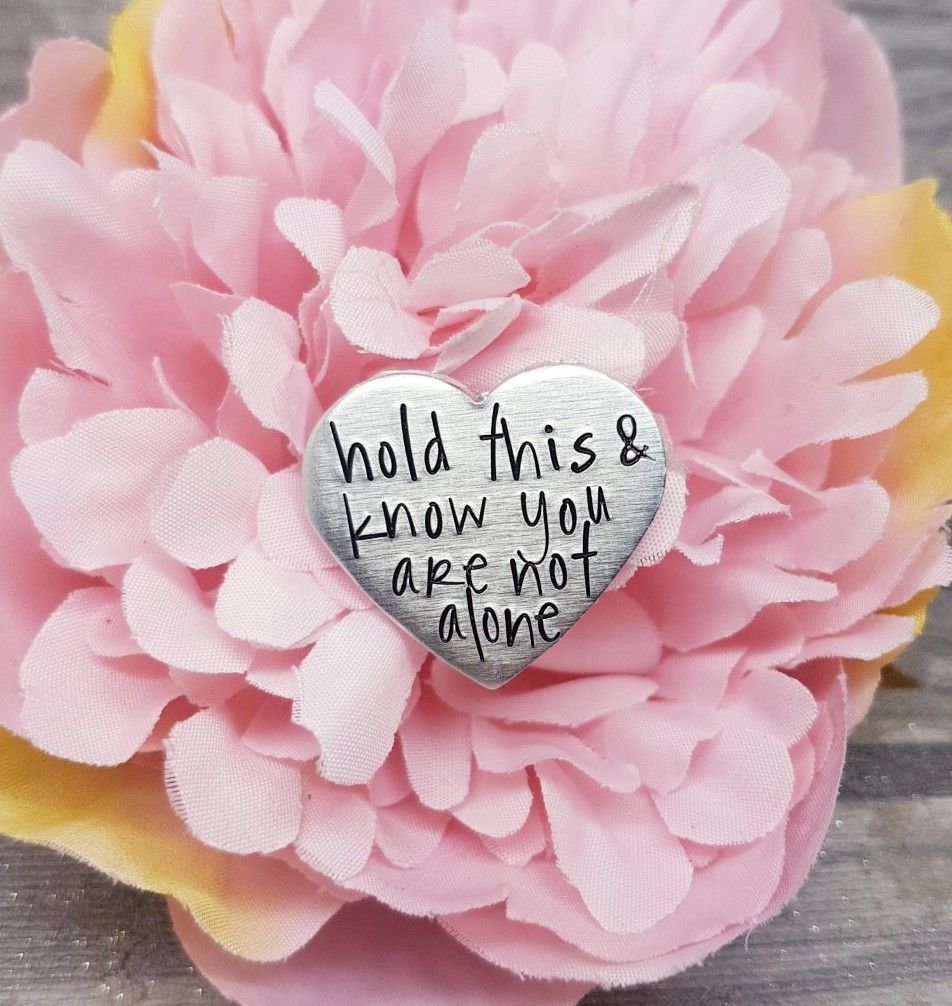 Heart Token - Worry Stone - Hold this & know you are not alone - Anxiety He