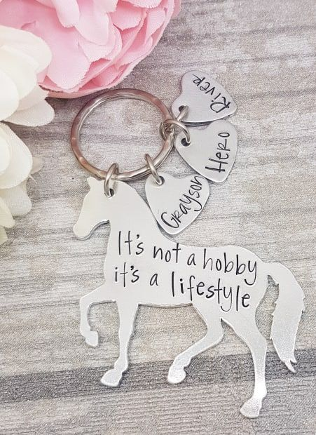 It's not a hobby it's a lifestyle keyring - with personalised name tags