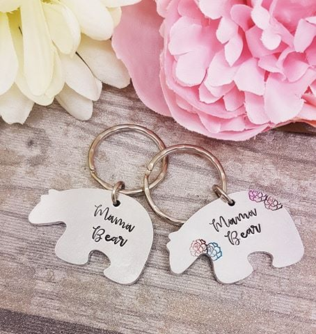 Bear Keyring - Mama Bear, Mummy Bear, Nana Bear, Papa Bear - Lots of option