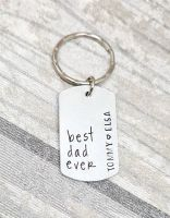 Best Dad Ever - Keyring - Personalised