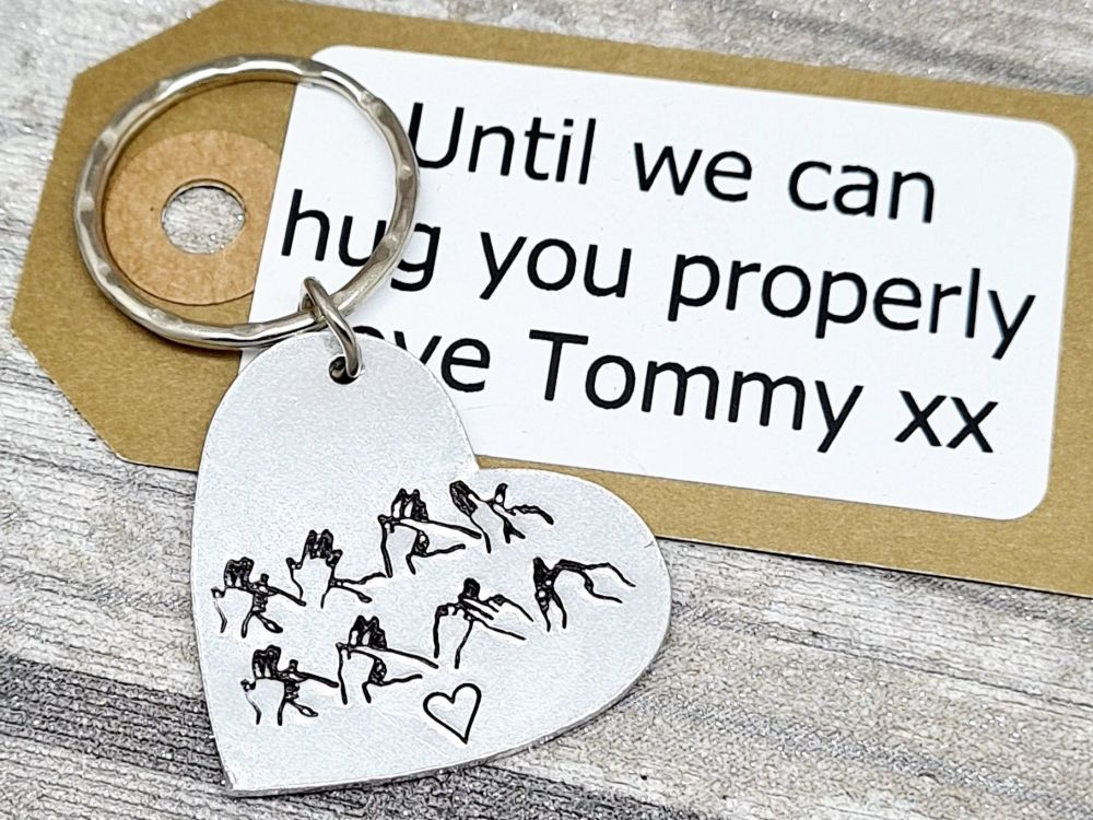 ** Stay Safe ** BSL Keyring - with gift note