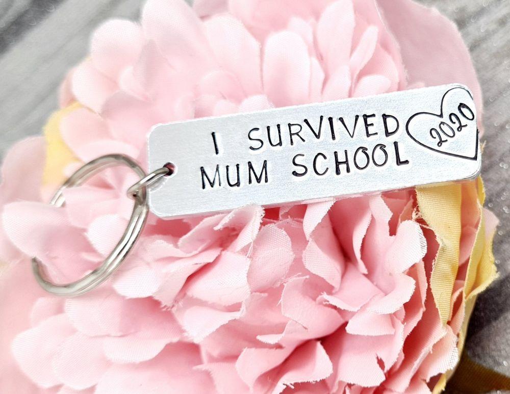 I Survived Mum School 2020 Keyring