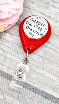 Nurses the heart of the world - Lanyard