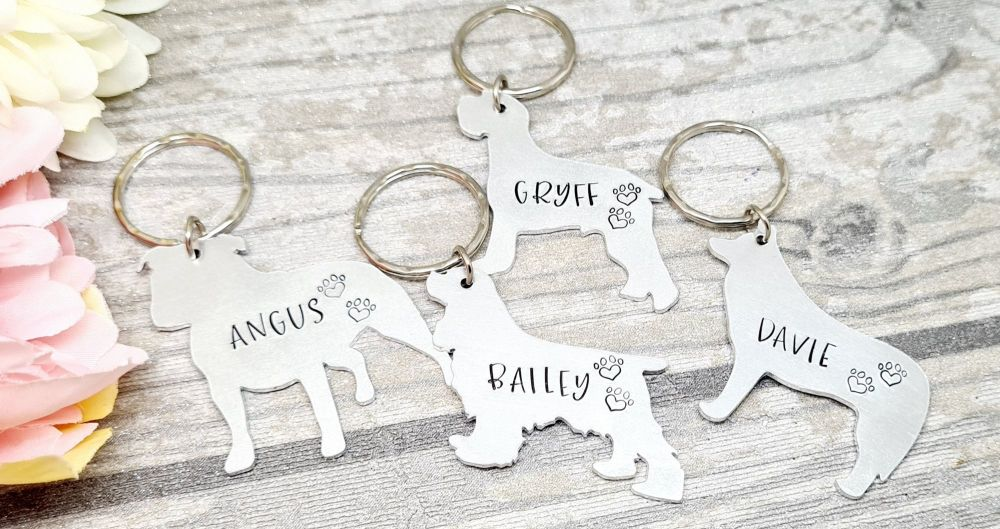 Personalised Dog Keyring - 30+ breeds available *HALF PRICE!*