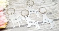 Personalised Dog Keyring - 30+ breeds available